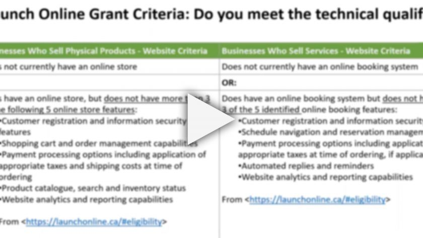 ON DEMAND WEBINAR: Demystifying the BC Launch Online Grant Program for Small Business